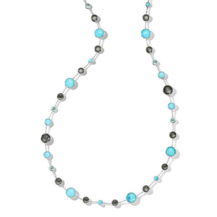 "Ippolita 36"" Long MARITIME Lollipop Lollitini Necklace in Sterling Silver"
