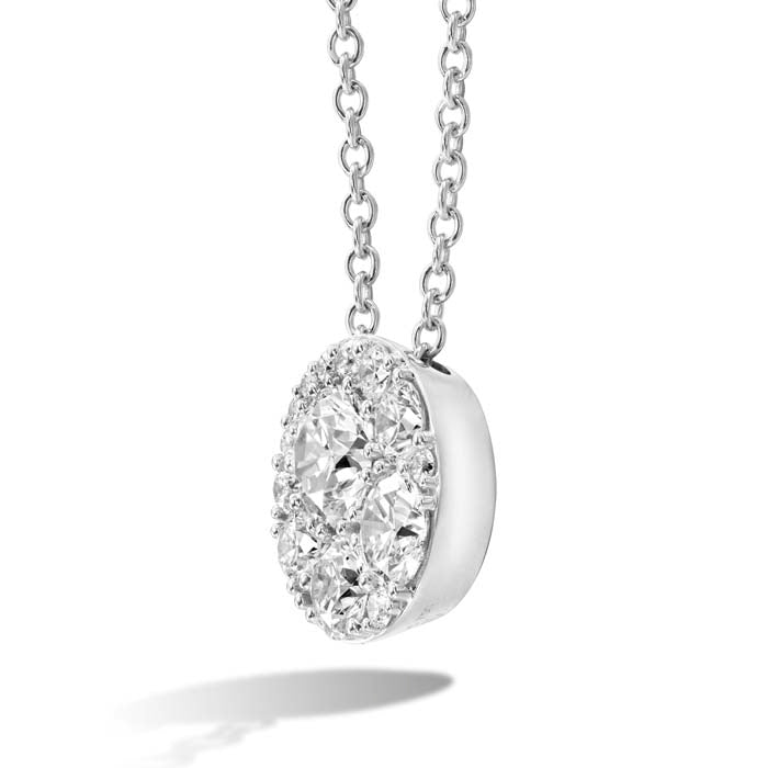 Hearts On Fire .23-.37CTW Tessa Diamond Circle Pendant in 18K White Gold
