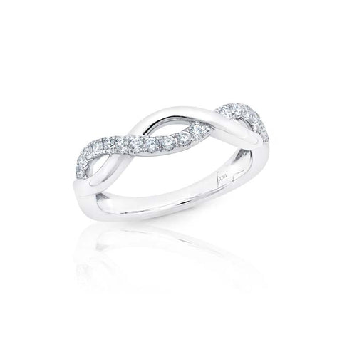 Fana Bridal .26CTW Criss-Cross Diamond Band in 14K White Gold