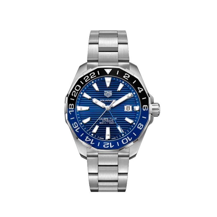 Tag Heuer 43MM Gents Aquaracer Calibre 7 GMT Automatic Stainless Steel Watch