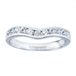 True Romance .22-.26TW Curved Channel Set Wedding Band 14K White Gold