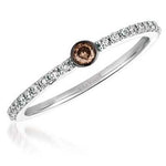 Le Vian 14K Vanilla Gold Chocolate and Vanilla Diamond Stackable Ring