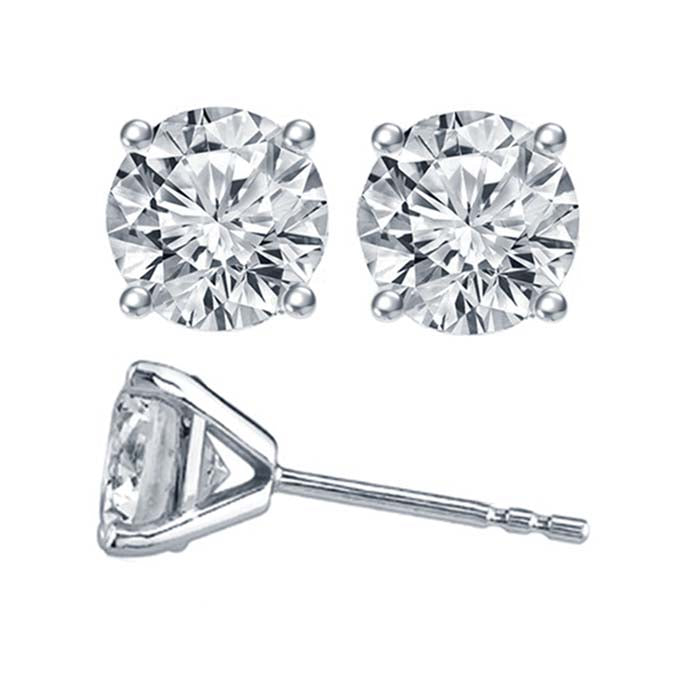 ALTR Lab Grown Diamond Studs .96CTW 4-Prong Solitaire Earrings in 14K White Gold
