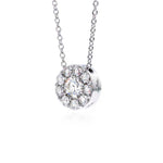 Hearts on Fire .22-.28CTW Diamond Fulfillment Round Pendant, 18K White Gold