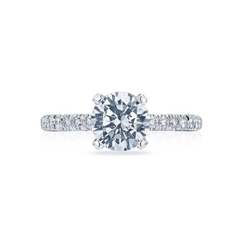 Tacori Petite Crescent Collection Engagement Ring Semi Mount 18K White Gold with Diamonds