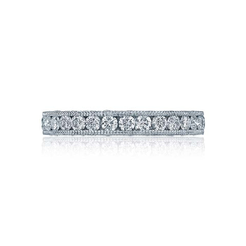 Tacori Royal T Wedding Band in Platinum with Diamonds