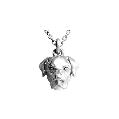 "Dog Fever Labrador Retriever Pendant, Sterling Silver with 23.6"" Cable Chain"