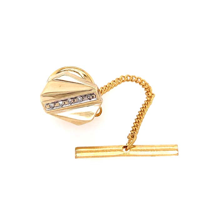 Estate .025CTW Diamond Tie Tac in 10k yellow gold