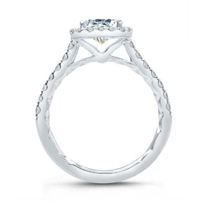 A. Jaffe .51TW Diamond Engagement Ring Seasons of Love Collection Semi-Mounting in 18K White Gold