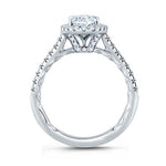 A. Jaffe .40TW Diamond Engagement Ring Seasons on Love Collection Semi-Mounting in 18K White Gold