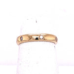 Estate .18CTW Flush Set Diamond Band in 14K Yellow Gold