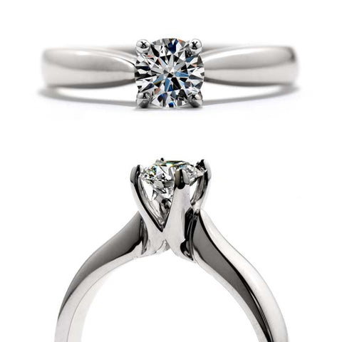 Hearts on Fire Serenity Solitaire Semi-Mounting in 18K White Gold