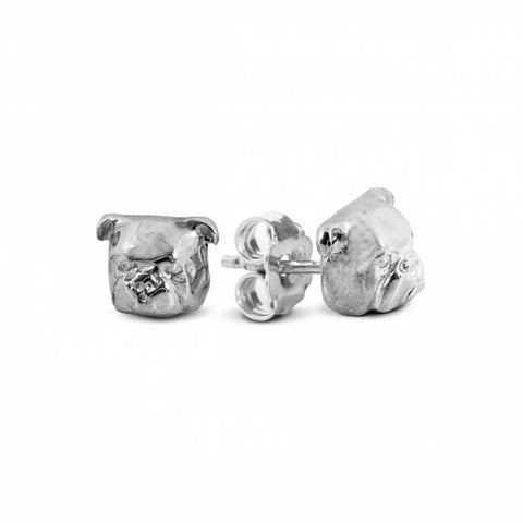 Dog Fever English Bulldog Stud Earrings, Sterling Silver