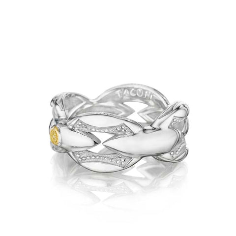 Tacori Ivy Lane Ring in Sterling Silver and 18K Yellow Gold