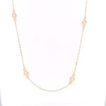 "Mountz Collection 18"" .51CTW Diamond by the Yard Necklace in 14K Yellow Gold"