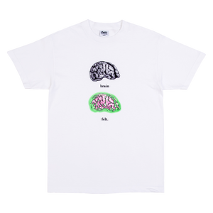 White Brain On Drugs T-Shirt