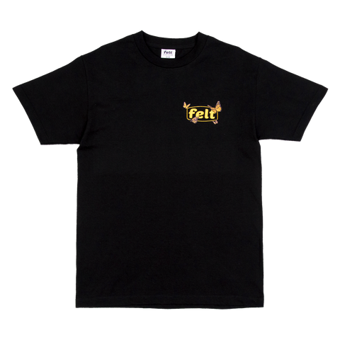 Black Butterfly Work Logo T-Shirt