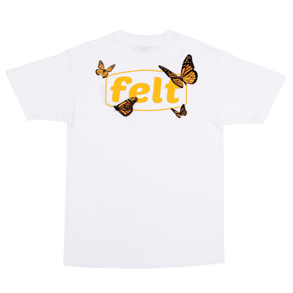 White Butterfly Work Logo T-Shirt
