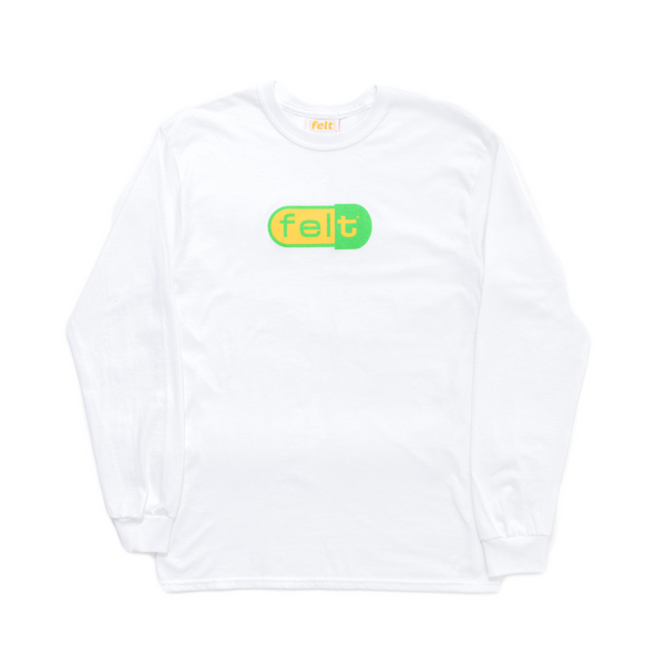 WHITE DISCO BISCUIT LONG SLEEVE