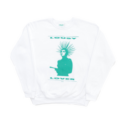WHITE LOUSY LOVER CREWNECK
