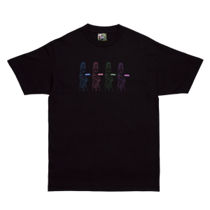 Black Data Glitch T-Shirt