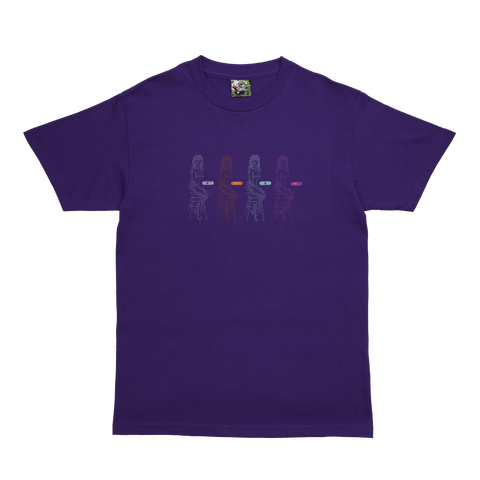 Purple Data Glitch T-Shirt