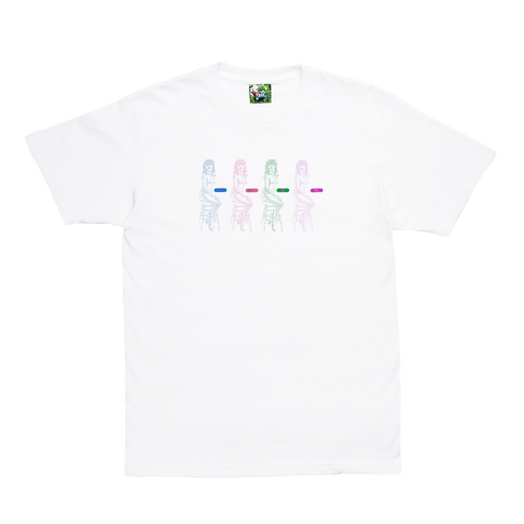 White Data Glitch T-Shirt