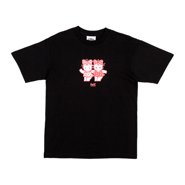 Black Shibuya Twins T-Shirt