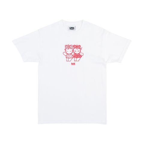 White Shibuya Twins T-Shirt