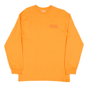 Orange Work Logo Longsleeve Shirt