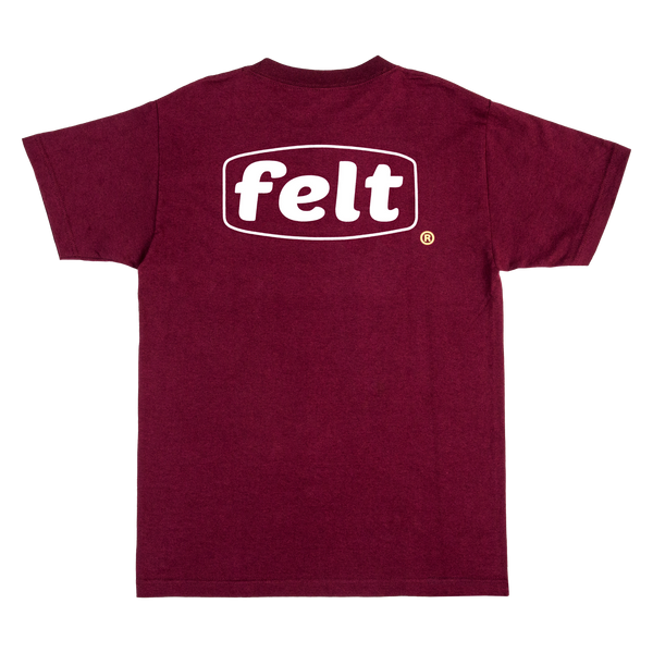 Maroon Work Logo T-Shirt