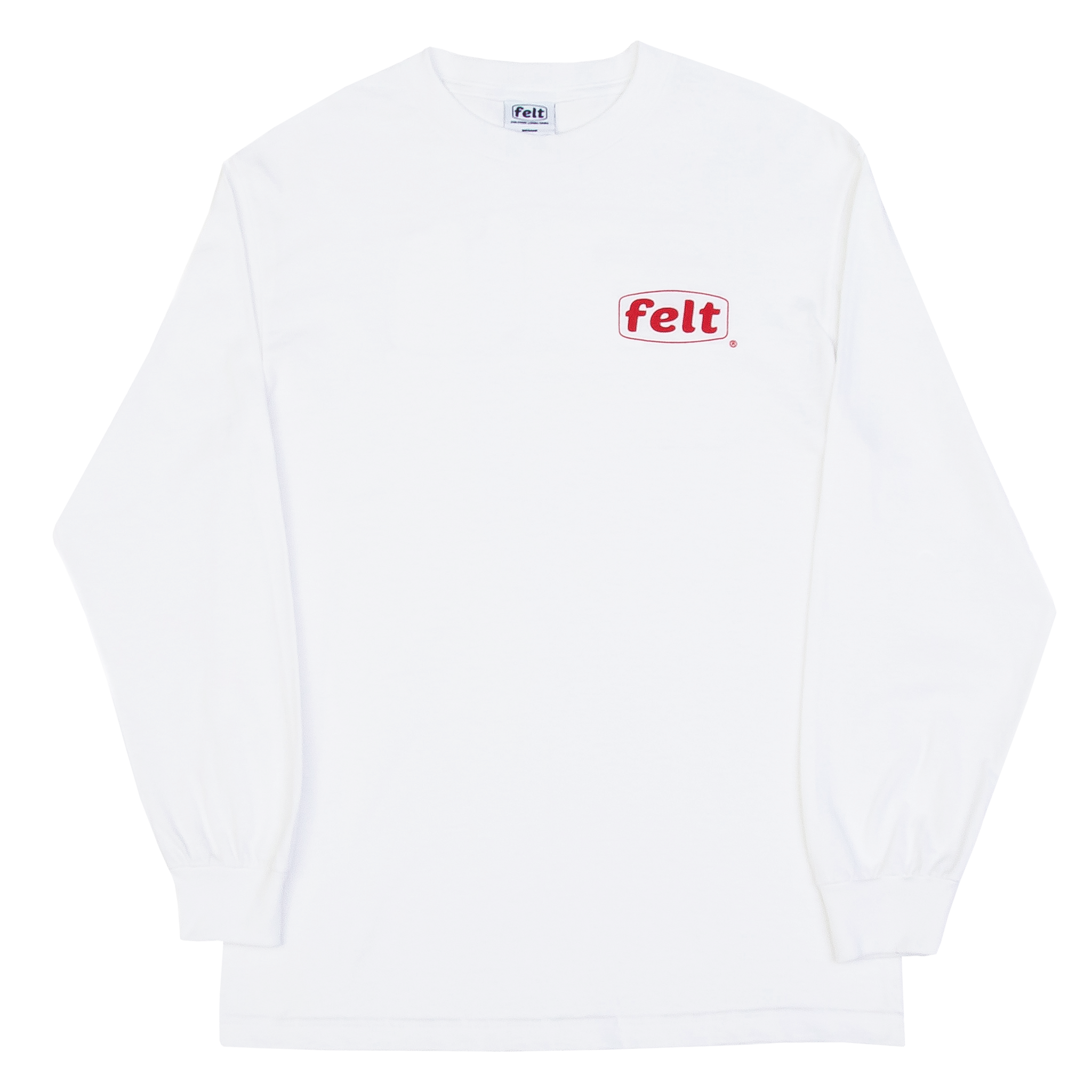 White Work Logo Longsleeve Shirt