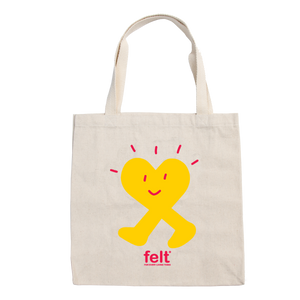 Yellow Heart Tote