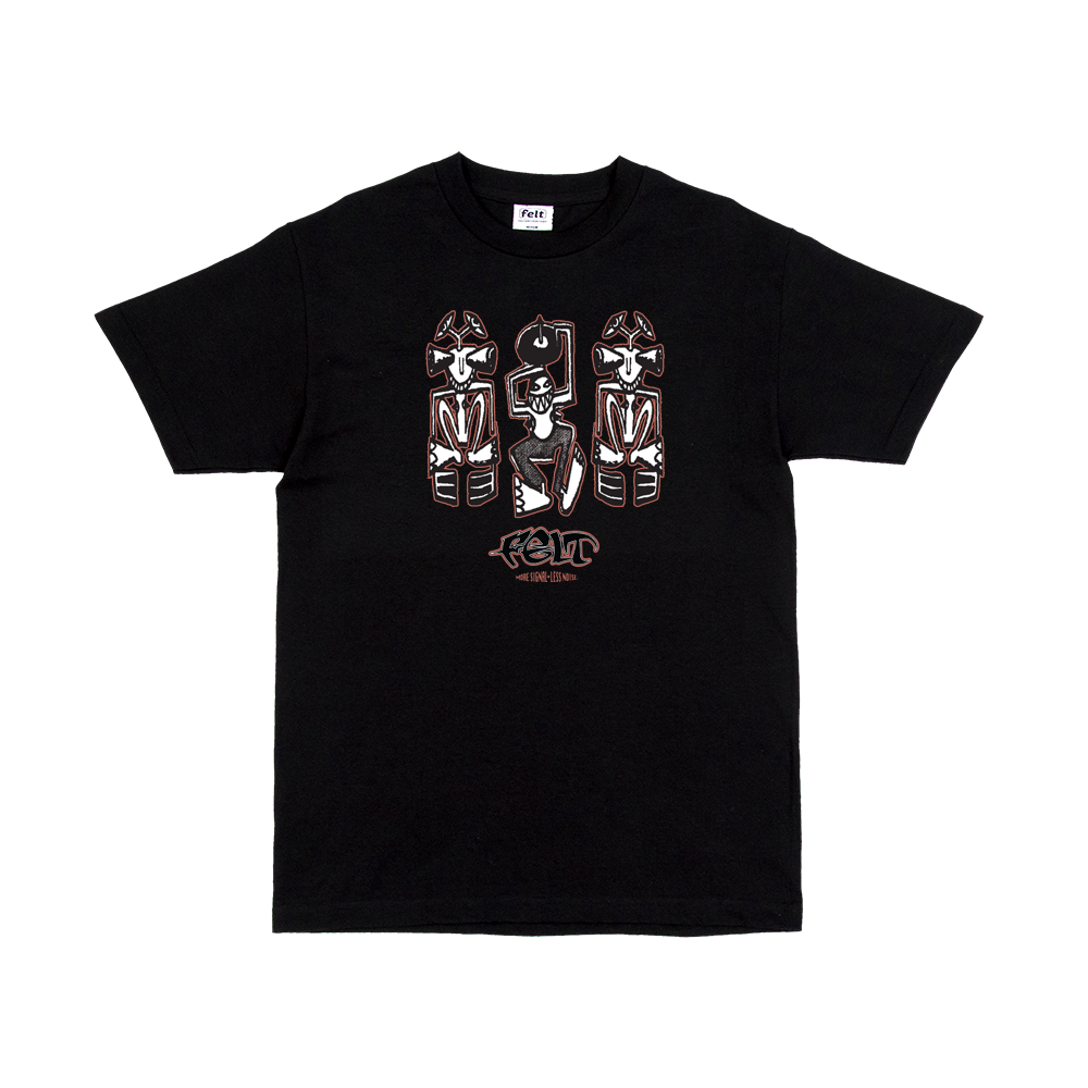 Black Detroit Techno tee