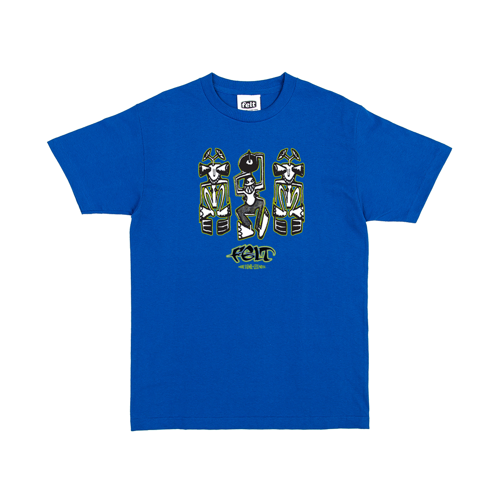 Blue Detroit Techno tee