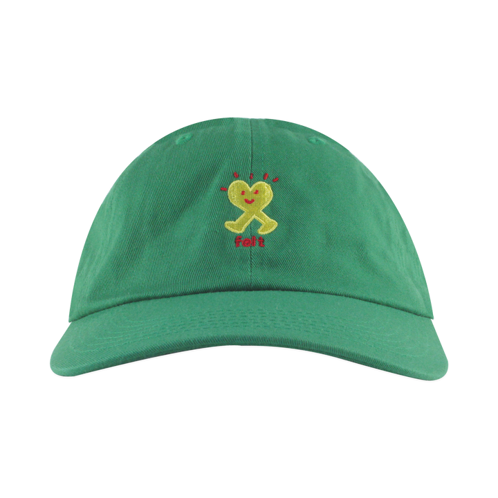 GREEN WALKING HEART HAT