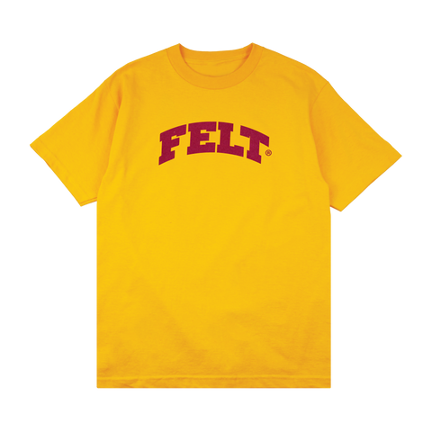 YELLOW FLOCKING ARCH T-SHIRT