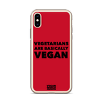 Vegetarians Are Basically Vegan iPhone Case (all sizes)