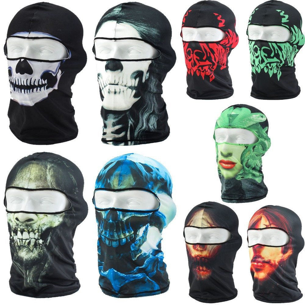 3D Outdoor Sports Hunting Bicycle Cycling Motorcycle Skull Ghost ...