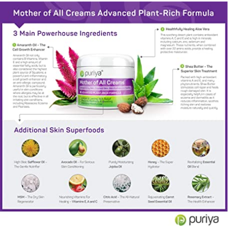 puriya intensive moisturizing cream ingredients