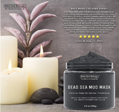 New York Biology Dead Sea Mud Mask for Face and Body - All Natural - Spa Quality Pore Reducer for Acne, Blackheads and Oily Skin - Tightens Skin for A Healthier Complexion
