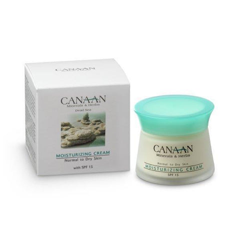 Moisturizer Face Cream with Dead Sea Minerals By Canaan- Normal to Dry Skin