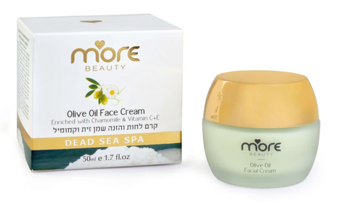 Moisturizer and Nourishing Facial Cream with Olive Oil and Chamomile By More Beauty