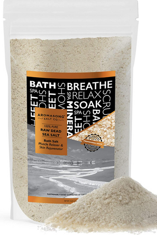5 lbs Raw Dead Sea Salt Not Cleaned - Still Contains All Dead sea Minerals Including Dead sea Mud
