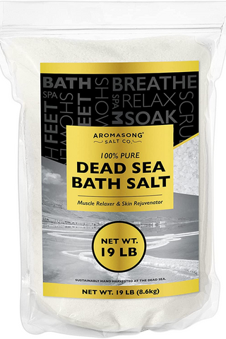 Dead Sea Salt - Spa Bath Salts - 19 Lbs Fine Grain Large Bulk Resealable Pack - 100% Pure & Natural - Used for Body wash Scrub - Soak for Women & Men to Relax Tired Muscles and Treat Skin Issues