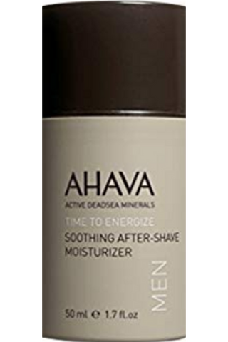 AHAVA Men's Dead Sea Mineral Shaving Line-Soothing After Shave Moisturizer