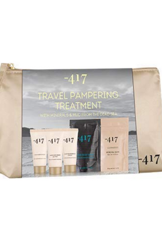 -417 Dead Sea Cosmetics 5 Piece Dead Sea Treatment Kit - Complete Regimen- Relaxation Set with Mineral Bath, Mud Body Wrap, Foot & Hand Cream- Perfect Gift Set. Suitable for All Skin Types