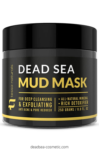 Dead Sea Mud Mask - Enhanced with Collagen - Reduces Blackheads, Pores, Acne, & Oily Skin - Visibly Healthier Face & Body Complexion - All Natural Anti-Aging Formula for Women & Men