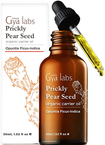 Gya Labs Organic Prickly Pear Seed Oil For Smooth, Young Skin & Healthy Hair - 100% Pure, Organic, Cold Pressed Prickly Pear Oil Moisturizer For Dry Skin, Even Skin Tone & Repair Damaged Hair (30ml)