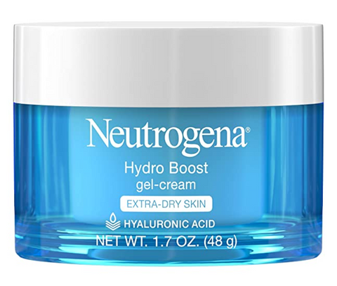 Roll over image to zoom in Neutrogena Hydro Boost Hyaluronic Acid Hydrating Gel-Cream Face Moisturizer to Hydrate & Smooth Extra-Dry Skin, Oil-Free, Fragrance-Free, Non-Comedogenic & Dye-Free Face Lotion, 1.7 oz